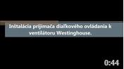 Zapojenie prijímača k ventilátoru Westinghouse